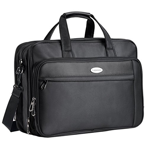17 Inch Laptop Bag, Expandable Large Capacity 17.3' Laptop Briefcase, Nylon Multi-functional Messenger Bags, Crossbody Travel Shoulder Bag For Laptop Notebook MacBook Ultrabook Dell HP Men Women