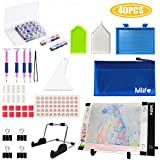 Mlife Diamond Painting A4 LED Light Pad Kit - Diamond Art Light Board with 32PCS 5D Painting Tools, Apply to Full Drill & Partial Drill 5D Diamond Painting with Detachable Stand and Clips