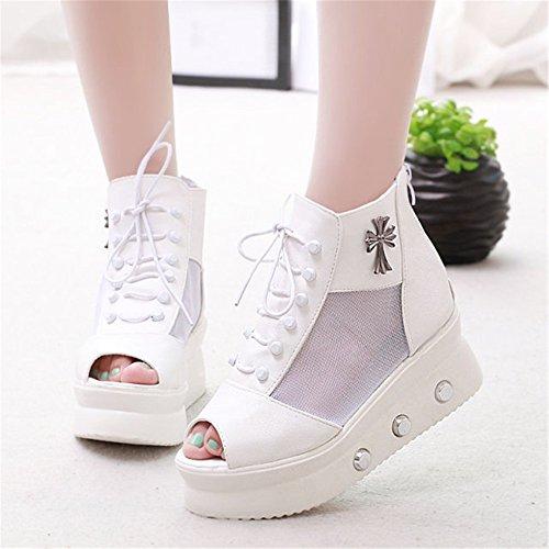 YUCH Fond Épais Bottes Femmes Chaussures À Unique Cool Cool Glissante Boots Respirant White Télévision YXdXrwqa4