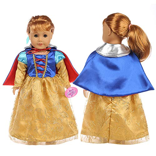 Denzar 18 Inch Alive Baby Doll Clothes, Handmade Beautiful Dress Clothes Outfits Costumes Dolly Pretty Doll Clothes, Compatible with United States Girls Doll Clothes,Prefect for Taking Photo Or Daily ()
