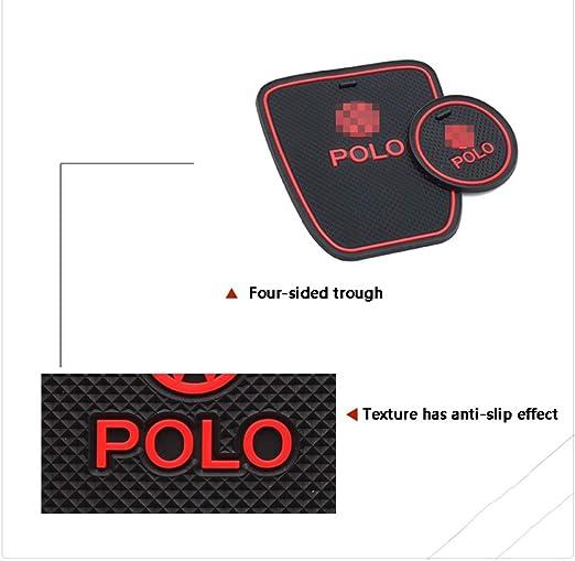 YYD Coussin de Tasse de Porte int/érieure antid/érapante Autocollants Tapis Accessoires 2011-2016 Polo Accessoires,Rouge
