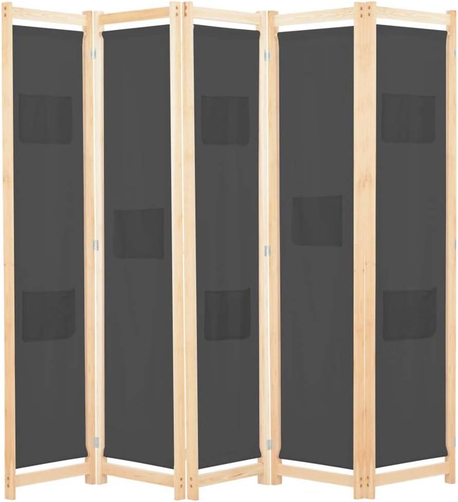 Soulong - Biombo divisor de interior, separador de 4 paneles, separador de interiores, separador de pared divisoria plegable de madera y tela: Amazon.es: Hogar