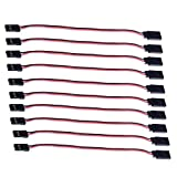 Hobbypark 15cm Male to Female Servo Extension Lead Wire Cable for KK MWC Control Board RC Parts (Pack of 10)