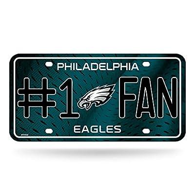 NFL Philadelphia Eagles #1 Fan Metal License Plate Tag : Sports Fan License Plate Frames : Sports & Outdoors
