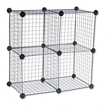 Amazon.com: Safco- Wire Cube Shelving System ,Wire ,5/St (Pack Of ...