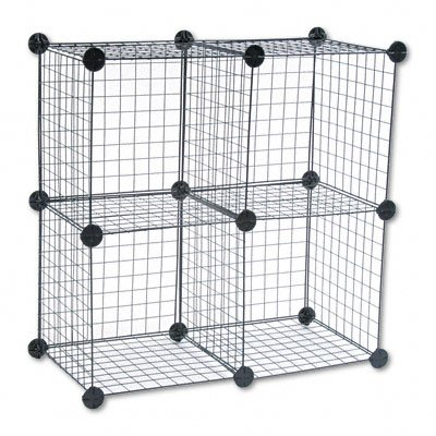 Amazon.com: Wire Cube Shelving System, 15w x 15d x 15h, Black ...