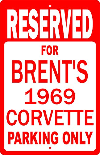 - Bubba's Tees Personalize 12in X 18in Reserved Parking Novelty Sign Garage Memorabilia Classic Car