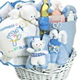 Happiness is a New Baby Boy Gift Basket for Newborns