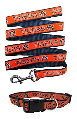 Auburn Tigers Nylon Collar and Matching Nylon Leash for Pets (NCAA Official by Pets First) Size Medium