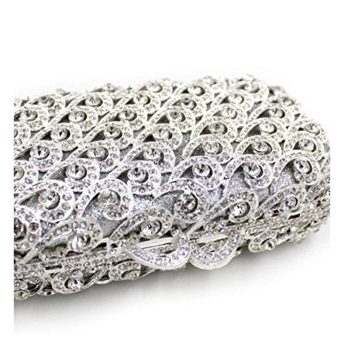 Sac Silver De Main Cristal Femmes à De De Diamant Sac Luxe Soirée qfTTH