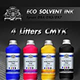4 Liters CMYK NEW FRESH Eco Solvent ink for Roland Mimaki Mutoh Epson DX4/5/7