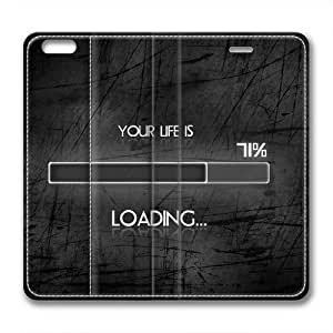 Enjoy happy life Iphone 6 leather Case,Iphone 6 Cases ,A progress bar Custom Iphone 6(4.7)High-grade leather Cases