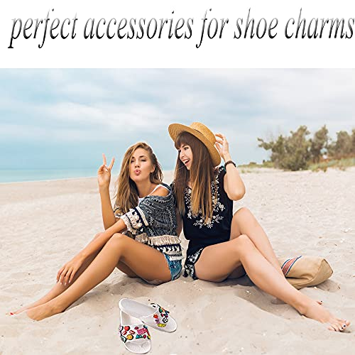 AXEN 320PCS Transparent Buckle Plastic Button, 3 Sizes Premium Clean Buttons for Shoes Charm and Shoes DIY (10mm/12mm/13mm)