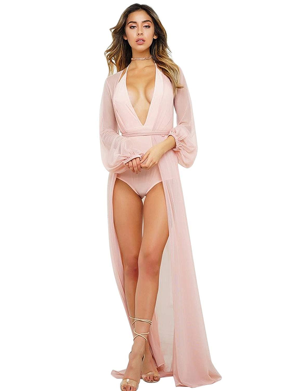 Ch/âle Kimono Cardigan JLTPH Cardigan Plage Femme Imprim/é en Mousseline de Soie Bikini Cover-Up Long Blouse