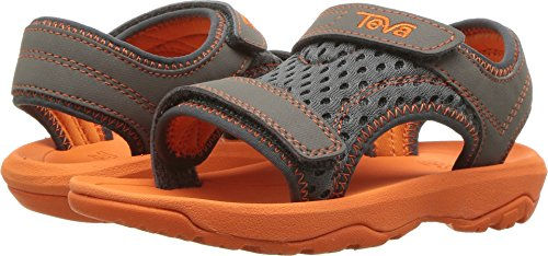 Teva Boys' T Psyclone XLT Sport Sandal, Grey/Orange, 9 M US (Orange Kids Sandals)