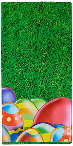 Beistle 40184 1-Pack Easter Egg Table Cover, 54 by 108-Inch