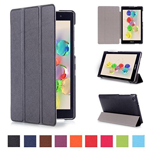 Ultra Slim Case for ASUS ZenPad C 7.0 Z170C 7 inch Tablet (Black) - 3