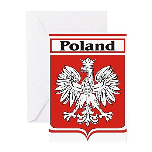 - CafePress Poland-Shield.Jpg Greeting Card, Note Card, Birthday Card, Blank Inside Glossy
