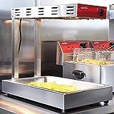 Avantco Infrared Fry Food Warmer French Fries Crisp Deep Fryer Dump Station Heat Lamp Commercial Restaurant Countertop Food Pan
