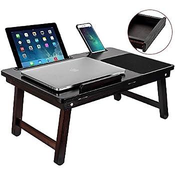 Amazon Com Tophomer Laptop Table Portable Desk Bed Tray