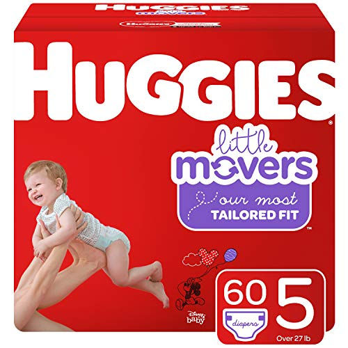 Huggies Little Movers Diapers, Size 5, 60 Ct