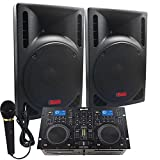 Starter Dj System - 1600 WATTS - Connect your Laptop, iPod, USB, MP3\'s or Cd\'s! 10\