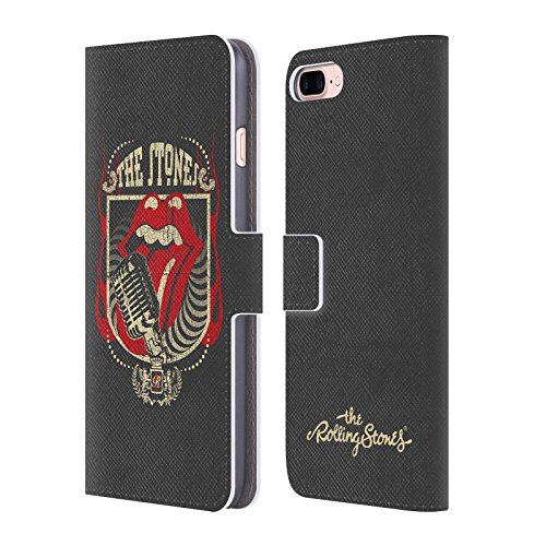 (Official The Rolling Stones Jumbo Tongue Key Art Leather Book Wallet Case Cover for iPhone 7 Plus/iPhone 8 Plus)