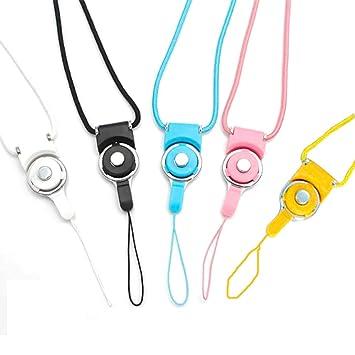 Xinlie Cordones para el cuello desmontable para Teléfono Móvil Clave Cadena Correa Cordón de Nylon para