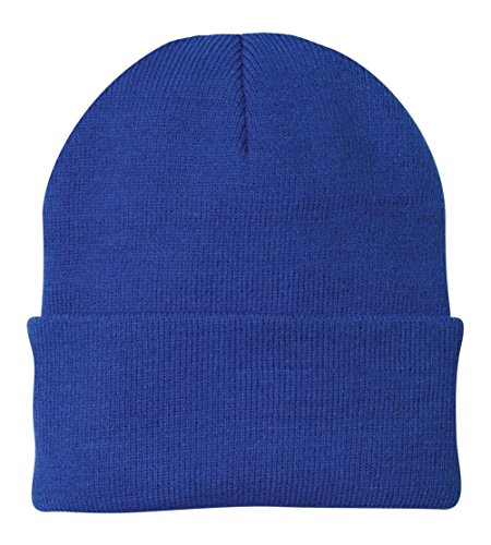 (Port & Company Knit Cap (CP90) Hat Athletic Royal)