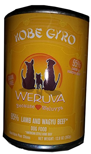 Weruva Dog Food, Kobe Gyro with American-Style Kobe Beef & Lamb, 12.8oz Can (Pack of 12)