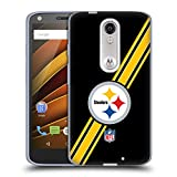 Official NFL Stripes Pittsburgh Steelers Logo Soft Gel Case for DROID Turbo 2 / X Force