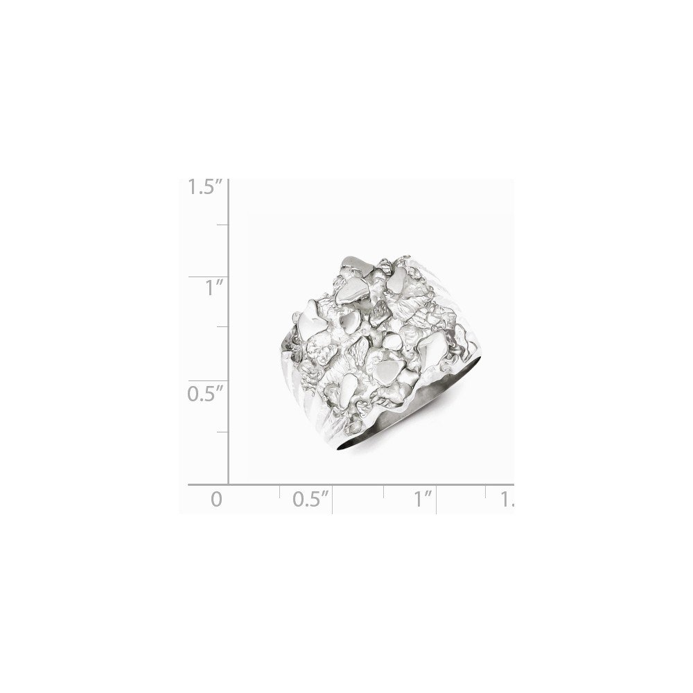 SSQGold-Rings .925 Sterling Silver Nugget Ring
