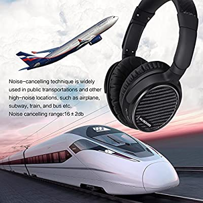 AUSDOM ANC7 Wireless Bluetooth Headphones Automatic Noise Canceller aptX Bluetooth V4.0 Handfree Headsets with Build in Mic