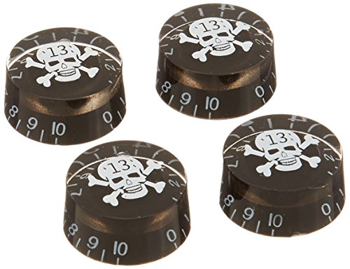 4pcs Speed Control Knobs with Skull Logo Black for Gibson Les Paul Replacement