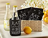 96 ''Eat, Drink & Be Married'' Collapsible Insulated Can Holders