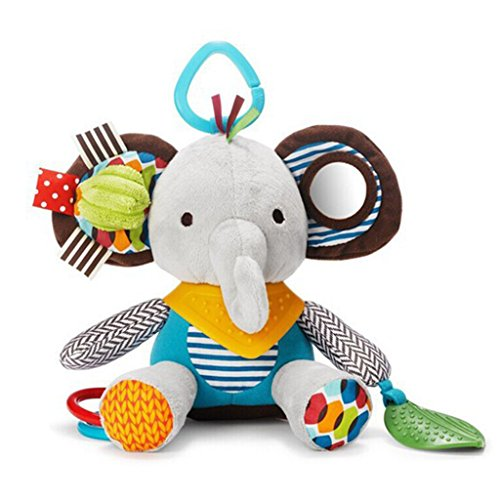 Gimilife Cartoon Elephant Baby Teether Toys Activity Plush Toy Car Seat Stroller Bell By TY