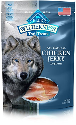 Blue Buffalo Wilderness Trail Treats Grain Free Jerky Dog Treats, Turkey 3.25-oz bag ()