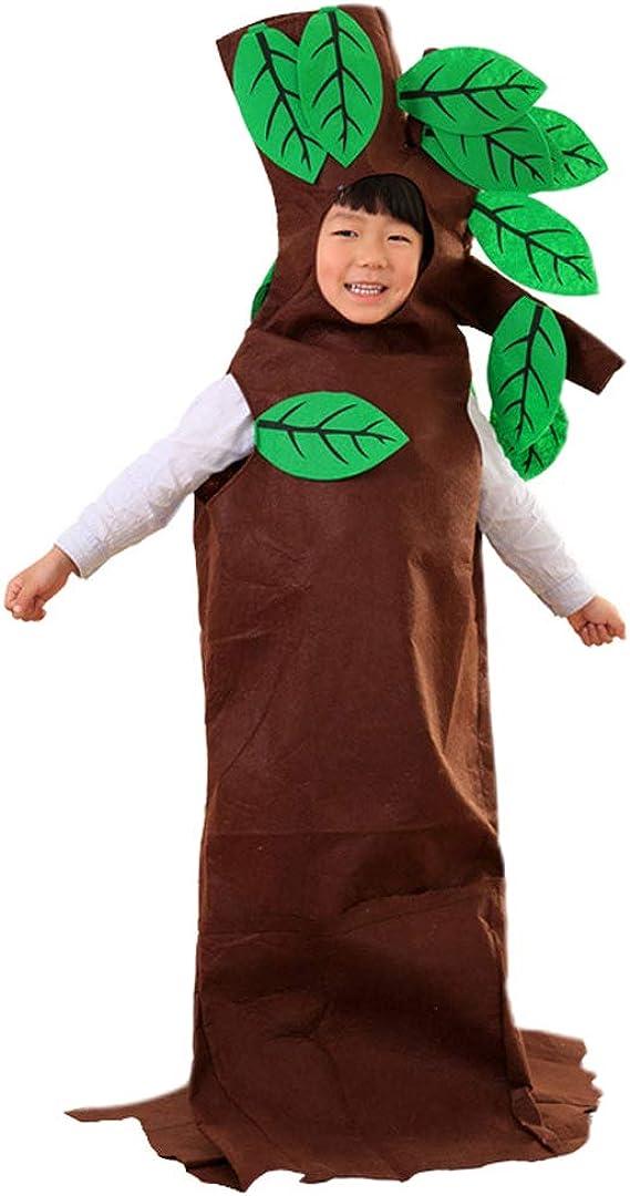 La moriposa Unisex Kids Halloween Pumpkin Strawberry Apple Watermelon Tree Costume Dress Set Fruits Costume Suit with Hat