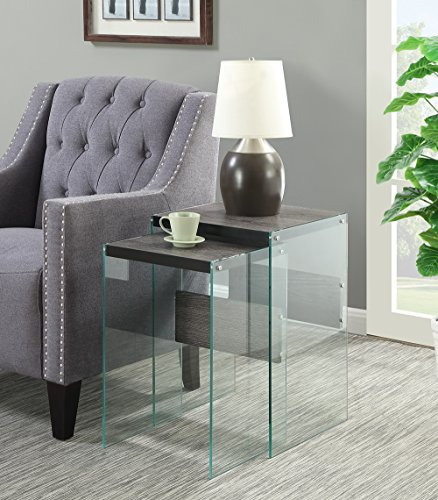 Convenience Concepts Soho Nesting End Tables, Weathered Gray For Sale