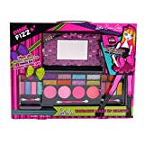Image of Pink Fizz Girls All-In-One Deluxe Makeup Palette With Mirror - Kids Pretend Make Up - Non Toxic and Washable