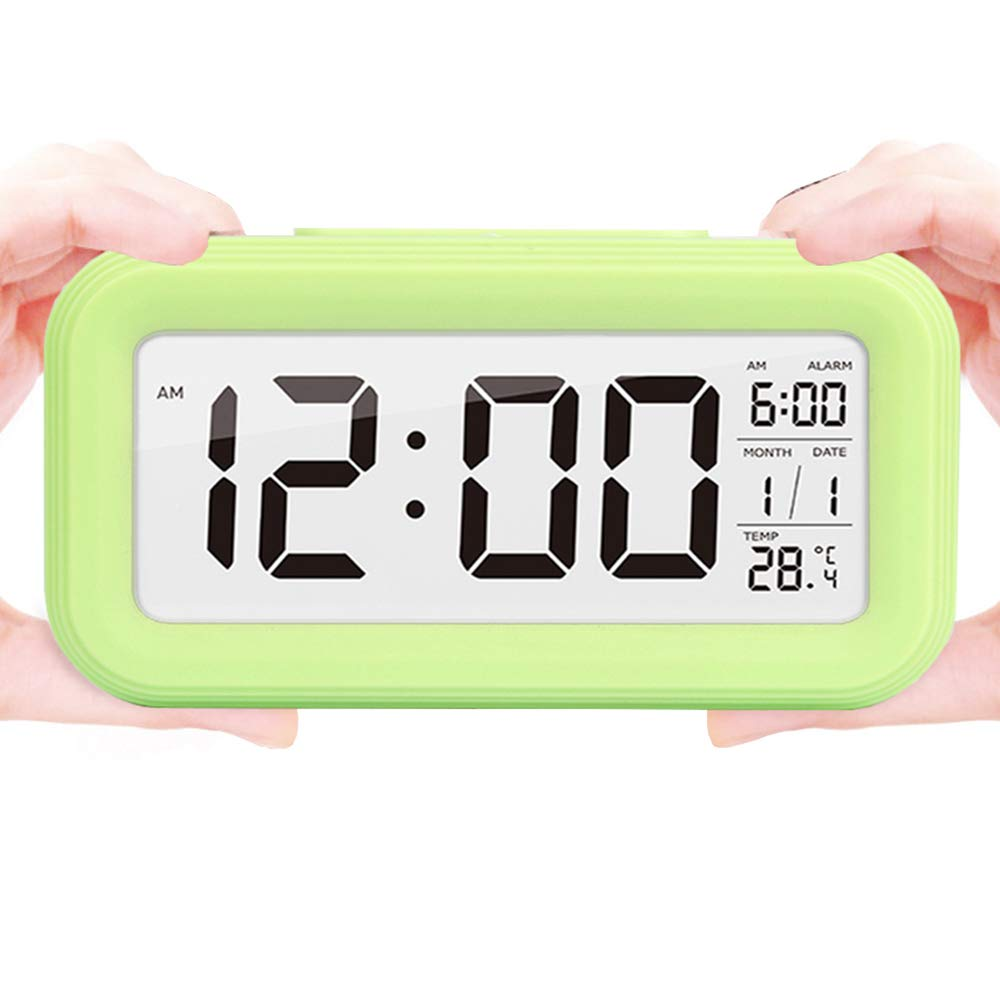 LONZOTH LED Digital Alarma Despertador Reloj Repeticion ...