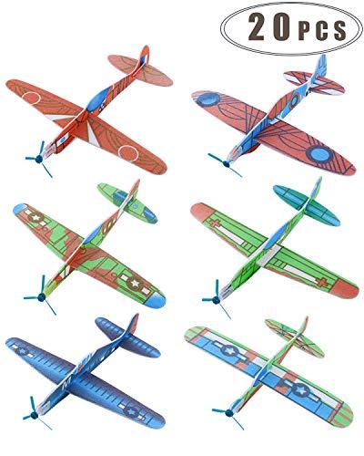 "WTSHOP 20 pcs Flying Glider Plane,8"" Light Flying Glider Plane"