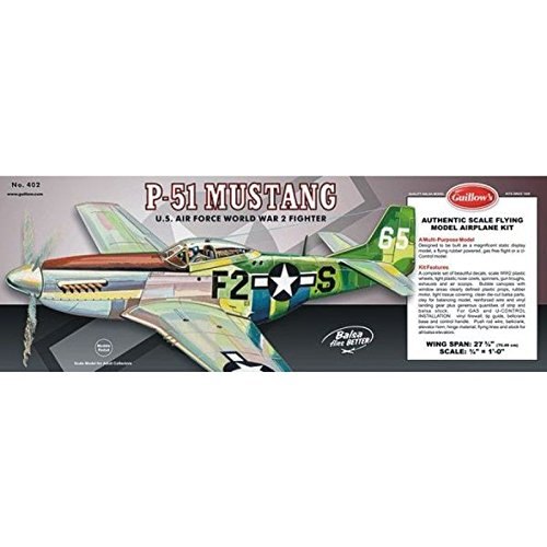 Guillow's P51 Mustang Laser Cut Model Kit](Scale Model Wood)