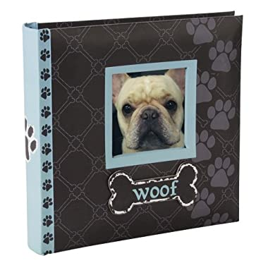 Malden International Designs Woof Album 1-Up Picture Frame, 4 by 6-Inch, Blue, Holds 80 Photos