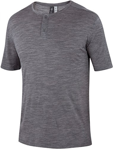 Ibex Wear Henley T Shirt - Men's Stone Grey Heather 7860 ...
