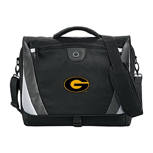 Grambling State Slope Black/Grey Compu Messenger Bag 'Official Logo' by CollegeFanGear