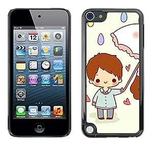 PC/Aluminum Funda Carcasa protectora para Apple iPod Touch 5 Cute Rainy Day / JUSTGO PHONE PROTECTOR