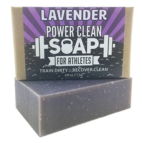 Organic Bar Soap for Athletes with Soothing Lavender Essential Oil | Relaxing Aromatherapy for All Skin Types (Including Sensitive) | 100% All Natural, Non GMO, SLS &...