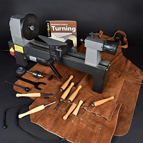 MicroLux 8 X 12 Woodturner's Lathe Super Value Package