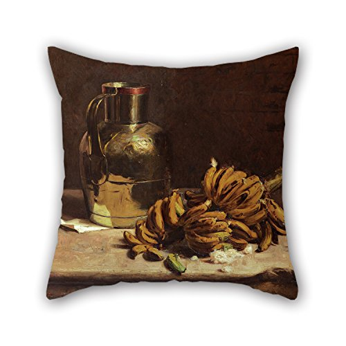 Oil Painting Pedro Alexandrino - Bananas And Metal Cushion Covers Best For Sofa Deck Chair Chair Chair Festival Car Seat 16 X 16 Inches / 40 By 40 Cm(both Sides) (Chair Banana Rocker)